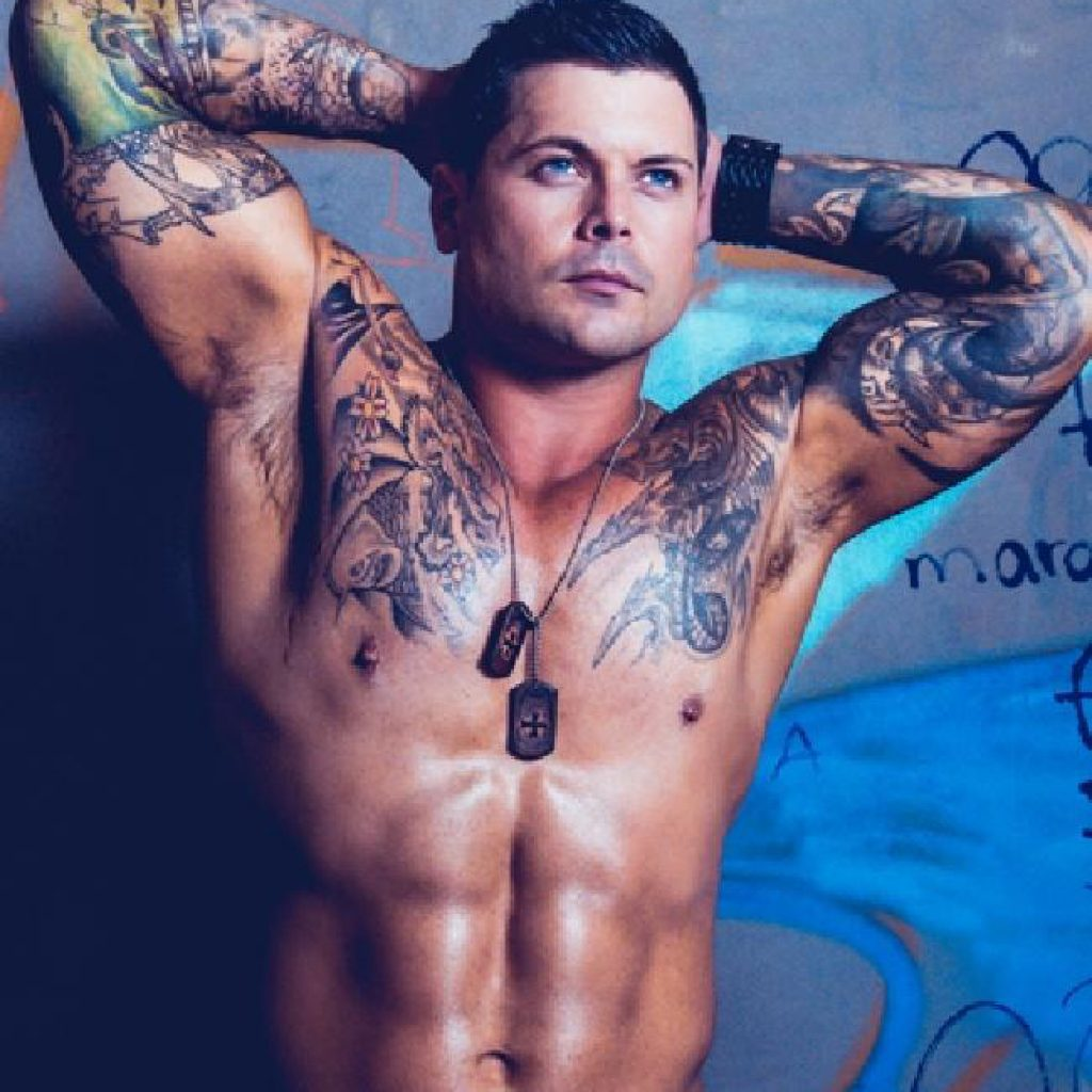 Sydney male stripper Johno
