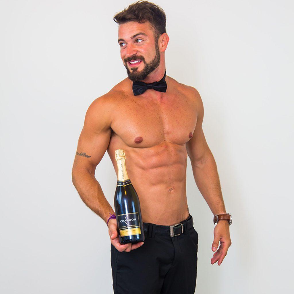 Sydney waiter Thiago at hen's party